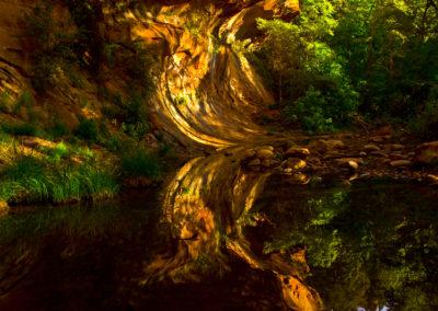 Reflections fo the West Fork of Oak Creek Sedona Az Lg8760