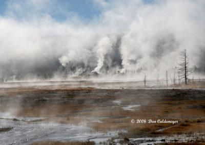 Smoking Early Morning Mist Yellowstone 130