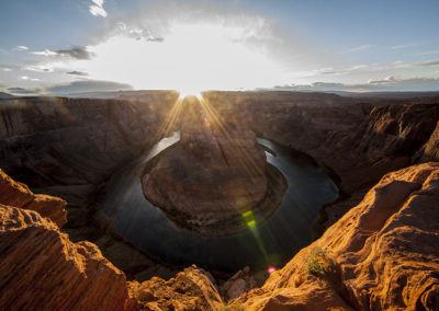 Sun Ray Explosion Horse Shoe Bend Page Az_9284