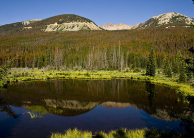 Colorado Mountain Lake Reflection 1137