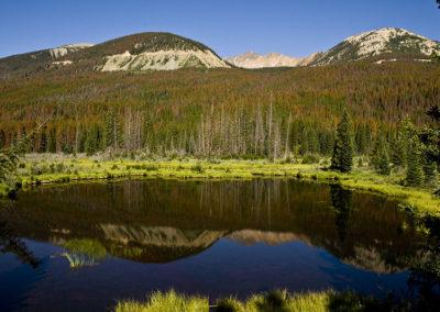 Colorado Mountain Lake Reflection 1137