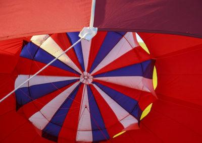 Inside the Hot Air Ballon Before Lift Off Albq NM 088