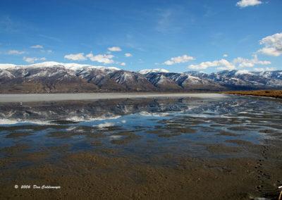 Reflection Of Antelope Island Salt Lake 092