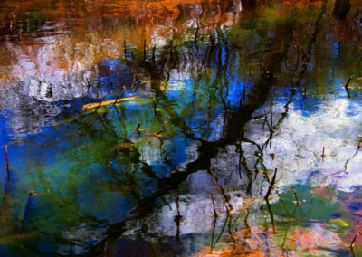 Reflections-Painters-Pond.Yellowstone NP LG-155