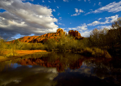 Reflections of Cathedral Rock Sedona Az_9016