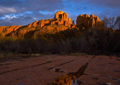 Reflections of Cathedral Rock Sedona Az_9062