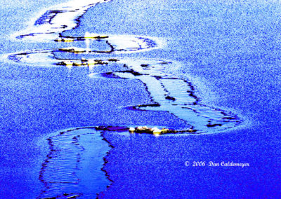 Salt Lake Frozen Abstract Utah