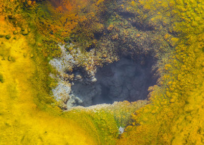 Under Water Geiser Hole Sulphur Algae Yellowstone NP 138